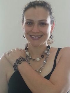 Mialisia Jewelry MILANO & SORRENTO worn here as a Necklace,  Sicilian as a Bracelet, and our Beautiful Carolina Earrings https://m.facebook.com/MIALISIAVERSASTYLEJEWELRY?soft=side-area www.lifetimewarranty.mialisia.com