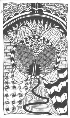 How did this zentangle end up looking like a cat?
