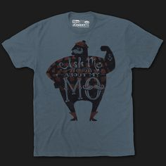 Show Your Mo Movember Mustache Tee Shirt | Fuzzy Ink | Mustache Shirts | Moustache Cookie Cutters