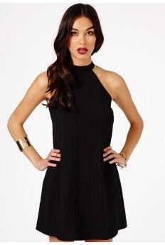 Nikola Halterneck Shift Dress In Black