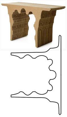 Мебель из картона: выкройки и видео