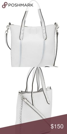 d769a7f6b76da NWT Rebecca Minkoff Mini Whipstitched Leather Tote - Dual top handles with  detachable