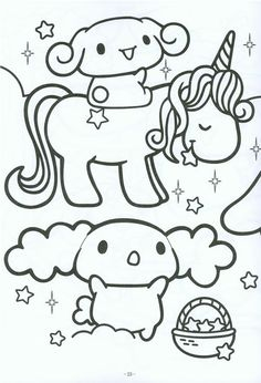 Online Kawaii printable coloring page Japanese Anime Coloring
