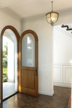House, Transitional House, Interior, Home, Home Door Design, House Styles, Doors And Floors, Prehung Doors, Paneling