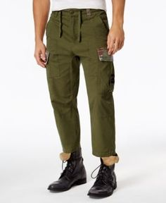 Lrg Men's Big and Tall Tapered-Leg Cargo Pants  - Green 42