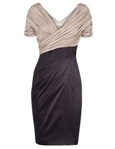 7092f0cf0a8b8 Sheath Black Short Mother Of The Bride Dress with Pleats
