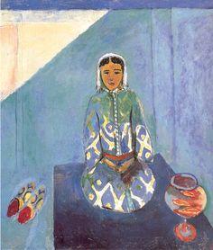 Henri Matisse / ZORAH ON A TERRACE 116 x 100 cm. Pusckin Museum, Moscow 1912