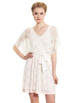 casual couture lace dresses | CASUAL COUTURE Kimono Sleeve Lace Dress | Just My Style