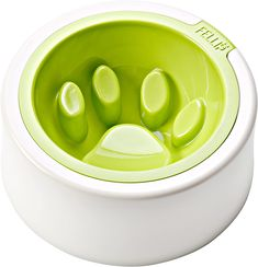 Find the dog paw and dinner is over, fun and good looking dog bowl. #cooldogstuff #fillip #pupbowls