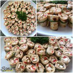 Rollos de pollo envuelto en pan árabe #picadera #bocadillo #panpita #panarabe #aperitivo #polloconvegetales #republicadominicana #moca #santiago #santiagodeloscaballeros #soniaeventos #soniaeventosrd