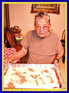 """Pedro """"PoP"""" Aguon's World Famous Bread Pudding (pudding icing breakfast) Pudding Icing, Pudding Pop, Filipino Desserts, Filipino Recipes, Filipino Food, Chamorro Recipes, Chamorro Food, Just Desserts, Dessert Recipes"""