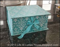 Repurposed Shoe Box- Fabric Covered Storage Box
