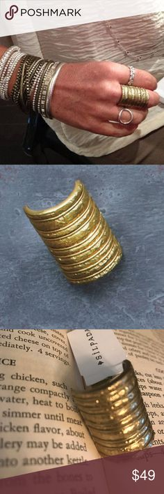 """NWT Silpada K & R Brass """"Athena"""" KRR0023 Ring Silpada K & R Brass """"Athena"""" Textured Size 8 Large Statement Ring NWT Silpada Jewelry Rings"""