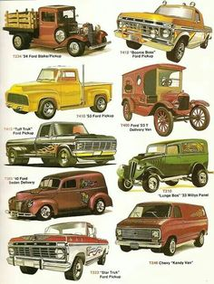 Vintage Pickup Trucks, Old Ford Trucks, Old Pickup, Vintage Cars, Antique Cars, Buy Classic Cars, Classic Trucks, Cool Trucks, Cool Cars
