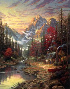 The Good Life - Thomas Kinkade - World-Wide-Art.com <3 His art