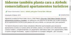 Sidorme también planta cara a Airbnb: comercializará apartamentos turísticos | Noticias de Hoteles | Revista de turismo Preferente.com