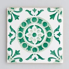 Design Inspiration – Green Tiles - Portuguese Tiles - Patterned Tiles - Kitchen…