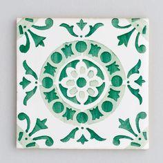 Design Inspiration – Green Tiles - Portuguese Tiles - Patterned Tiles - Kitchen…