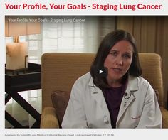Your Profile, Your Goals - Staging Lung Cancer | American Lung Association
