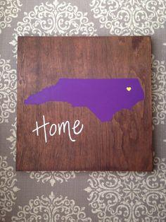 e23d1fc0250 Purple State sign. North Carolina sign. ECU decor. by theratliffco Ecu  University