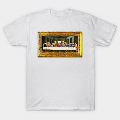 "8-bit pixel art version of Leonardo DaVinci's famous Italian Renaissance painting, ""The Last Supper"" of Jesus Christ observing Passover with His apostles – let fine art bring some class, culture, and sophistication to your digital world (or vice versa?)"