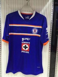 04ad47bd0 CD SC Cruz Azul 2016-17 Season Home Blue Soccer Jersey Shirt  E954