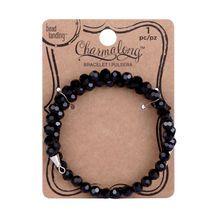 Charmalong™ Black Crystal Bracelet By Bead Landing®