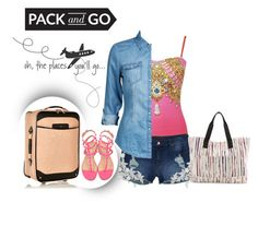 """Pack & Go"" by noconfessions ❤ liked on Polyvore featuring Gottex, dELiA*s, River Island, ONLY, IIIBeCa, Valentino and Packandgo"
