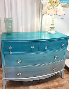 """""""I used Block It on a very old mahogany dresser that had dark stain, the product flows easily and dries quickly and truly covered the old stain perfectly allowing for the paint to do its magic. The dresser turned out beautifully."""" - Marta L. Funky Furniture, Refurbished Furniture, Paint Furniture, Repurposed Furniture, Furniture Projects, Furniture Making, Furniture Makeover, Cheap Furniture, Beach House Decor"""
