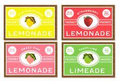 Free printable vintage lemonade labels