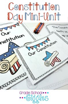 """This book and activities are designed to be used to introduce young students to the Constitution in age appropriate language. It is appropriate for Constitution Day or for any social studies unit on the Constitution. The book, """"Our Constitution"""" explains the Constitution in terms young students can understand."""