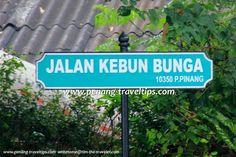 Jalan Kebun Bunga road sign