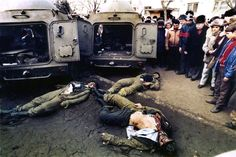 Members of special troops lie dead in front of their armored vehicles after being shot by the army in the Bucharest suburb of Taberei. Romanian Flag, Romanian Revolution, Timisoara Romania, Bucharest, Armored Vehicles, Eastern Europe, Capital City, World History, Troops