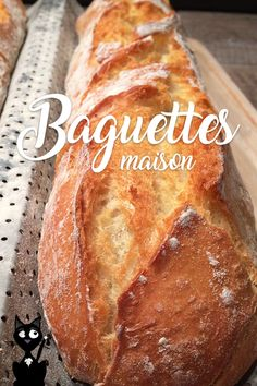 Recipe baguettes traditional home so easy to do that Artisan Food, Artisan Bread, Baguette Recipe, Brioche Recipe, Breakfast Crepes, French Bakery, Yummy Food, Tasty, Winter Food