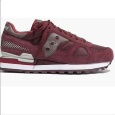 SAUCONY Shadow Original Sneakers - Burgundy Saucony and Madewell collaborated and made this classic sneaker in extremely stylish and wearable colors, such as this beautifully rich burgundy. Perfect year round! Madewell Shoes Sneakers