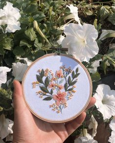 Beautiful, contemporary embroidered florals stitched by @naked.works For more embroidery inspiration, visit DMC.com to see our hundreds of FREE patterns. Owl Patterns, Lace Patterns, Crochet Embellishments, Crochet Cord, String Art Patterns, Flamingo Pattern, Headband Pattern, Friendship Bracelet Patterns, Handmade Crafts