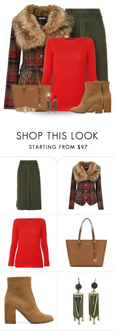 """""""Brown, Green, & Red"""" by majezy ❤ liked on Polyvore featuring TIBI, Joe Browns, Les Copains, MICHAEL Michael Kors, L'Autre Chose and Henri Bendel"""