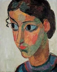 expressionnisme art ◈ alexej jawlensky (head of a girl) (torjok russie † wiesbaden art moderne portrait painting peinture Wassily Kandinsky, Henri Matisse, Expressionist Portraits, Franz Marc, Abstract Faces, Museum Of Modern Art, Beauty Art, Famous Artists, Portrait Art