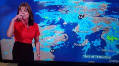Louise Lear, a BBC Weather presenter, can& stop laughing at something the viewers are unaware of, but only she and Simon McCoy know what it is. BBC News Cha. Bbc Weather, Can't Stop Laughing, Bbc News, Videos, Presents, Canning, Concert, Entertainment, Laughter