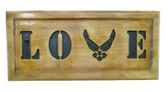 AIR FORCE LOVE Sign Wings Logo usaf Wood Plaque Military Gift Wedding Promotion Retirement on Etsy, $24.95