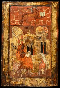 Russian Icons - St Luke the Evangelist - Jan Morsink Ikonen