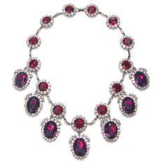 Kenneth Jay Lane Magenta & Purple Statement Necklace