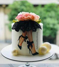 Creative Birthday Cakes, Elegant Birthday Cakes, Birthday Cake With Flowers, Elegant Cakes, Birthday Cake Toppers, Girly Cakes, Cute Cakes, Beautiful Cakes, Amazing Cakes