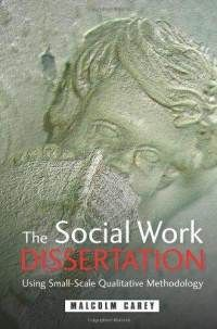 Gives a good guide to the whole process of writing a social work dissertation including choosing a topic, creating a research proposal, doing a literature review, critical analysis, writing up, tips on notetaking, primary and secondary sources etc.