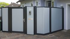 GUARDI Briefkastensäule passend zum Modell UMBRIA Lockers, Locker Storage, Divider, Room, Furniture, Home Decor, Aluminum Fence, Mesh Fencing, House Numbers