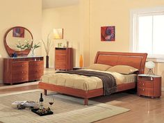 wood contemporary bedroom furniture