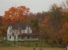 Pennsylvania farmhouse in the fall~ by TammieDunlap