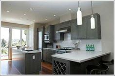 Grey Cabinets...like it!