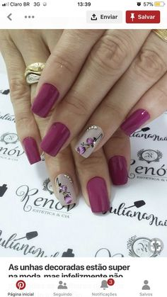 The 90 Vigorous Early Spring Nails Art Designs are so perfect for this Season Hope they can inspire you and read the article to get the gallery. Pretty Nail Art, Beautiful Nail Art, Spring Nail Art, Spring Nails, Nagellack Design, Nagel Hacks, Flower Nails, Fancy Nails, Fabulous Nails
