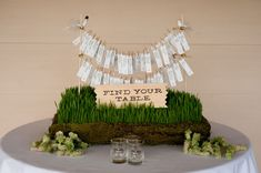 Fresh (literally) way to get guests to their seats.  #urbanveil #weddingseating #weddingseatingtemplate #weddingplanning